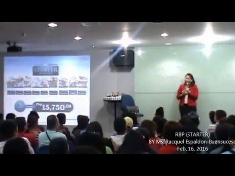 RBP STARTER BY Ms  Racquel Espaldon Buensuceso