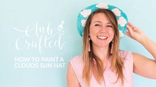 DIY! How to Paint a Clouds Sun Hat