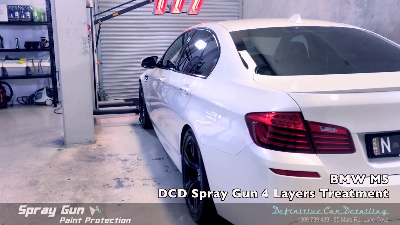 Bmw M5 Mineral White Definitive Sydney Spray Gun 4 Layers Paint