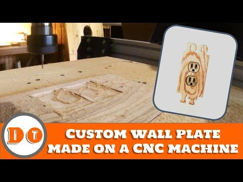 How to make a custom outlet wall cover on your CNC machine