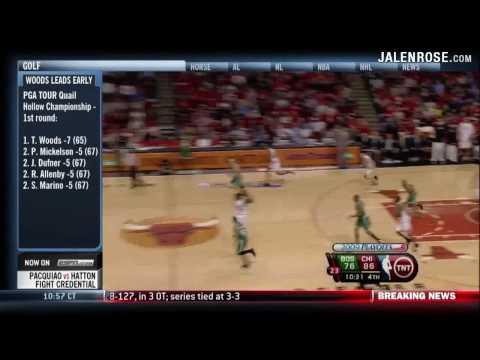 Tyrus Thomas BIG Alley-Oop Game 6 Bulls vs Celtics 3OT - 2009 NBA Playoffs