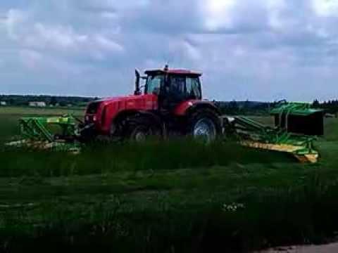 Заготовка силоса в ОАО  Леднево , Видео, Смотреть онлайн