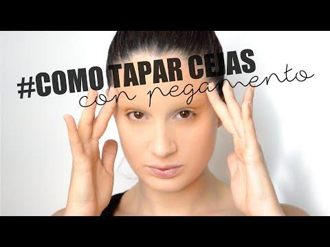TIP Cómo tapar las cejas con pegamento, maquillaje / How to cover eyebrows glue makeup