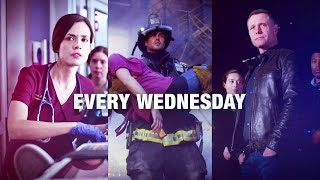 "Chicago Wednesdays ""Together on One Night"" Promo - Chicago Med, Chicago Fire, Chicago PD (HD)"