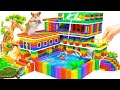 - DIY - Build Mega Mansion Has Waterfall Pool For Turtle And Hamster With Magnetic Balls Satisfying