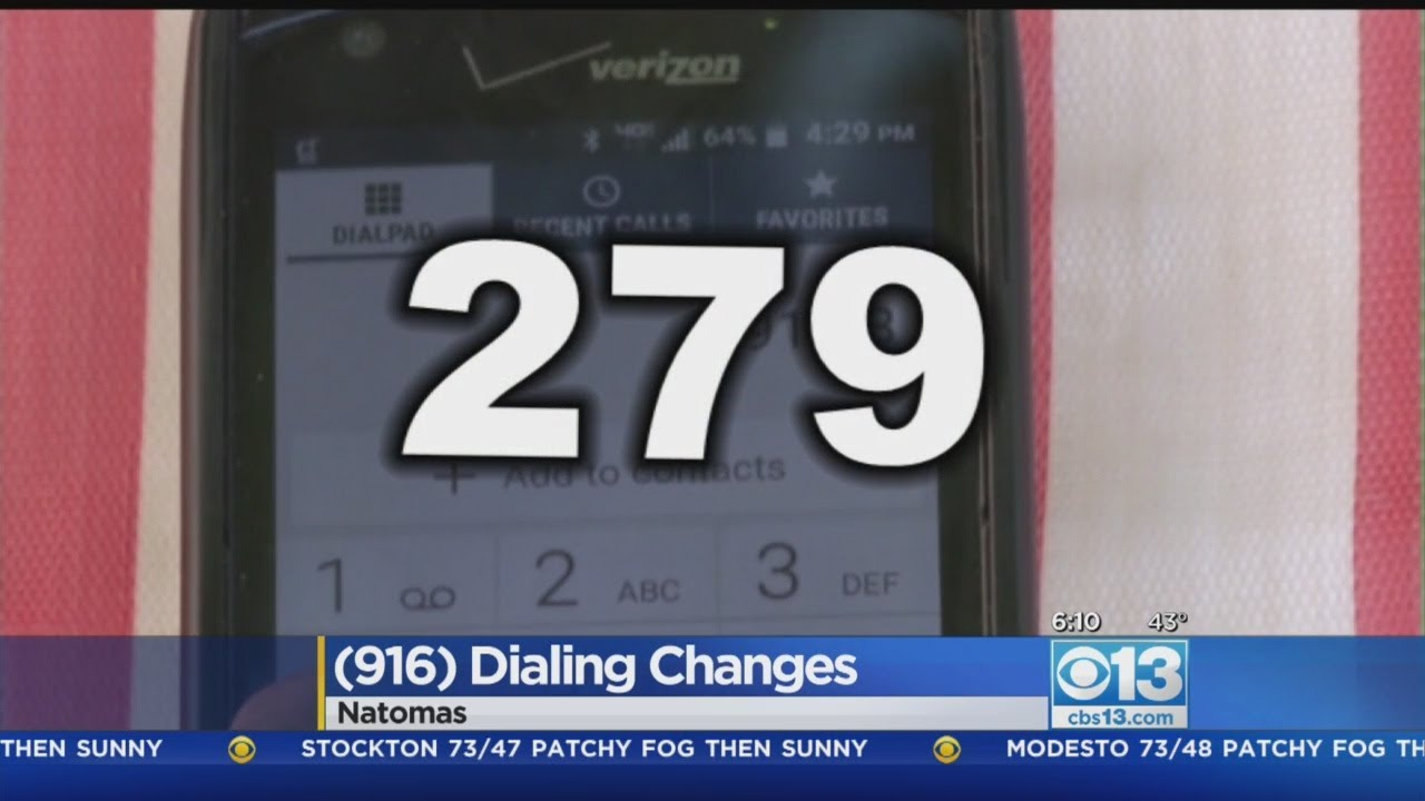 Area Code Dialing Changes Going Into Effect YouTube - 916 area code