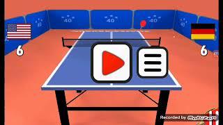 Jugando Table Tennis