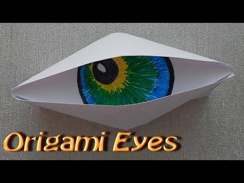 Make Origami Paper Cyclops Eye. Origami fun. Very simple. For Beginners
