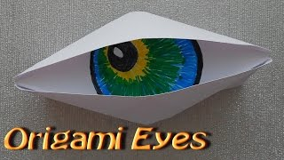 Make Origami Paper Cyclops Eye. Origami fun. Very simple. For Beginners