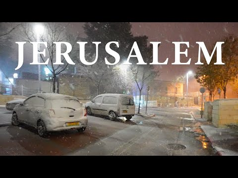SNOW in JERUSALEM, Winter has Come to ISRAEL