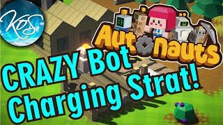 CRAZY BOT CHARGING STRAT! - Autonauts Tutorial (Production Chain Colony Builder) Release