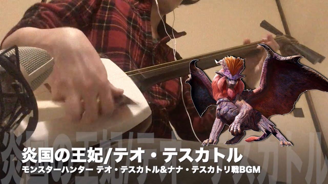 【炎国の王妃/テオ・テスカトル】三味線だけで弾いてみたら火傷したぜ [Monster Hunter:Teostra Battle Theme - Japanese Music Cover]