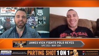"""UFC 211's James Vick """"I can beat Polo Reyes anywhere I want to"""""""