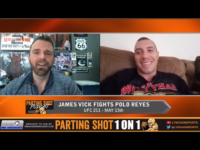"UFC 211's James Vick ""I can beat Polo Reyes anywhere I want to"""
