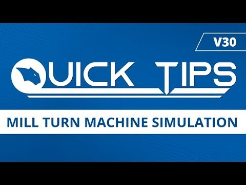 Mill Turn Machine Simulation- BobCAD CAM Quick Tip