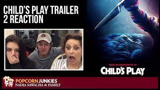 CHILD'S PLAY Trailer #2 - Nadia Sawalha & The Popcorn Junkies Family Reaction