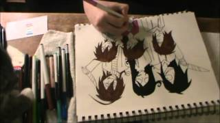 Jeff the Killer, Homicidal Liu, and Jane the Killer Speed Draw [Daisuke Yoshida]
