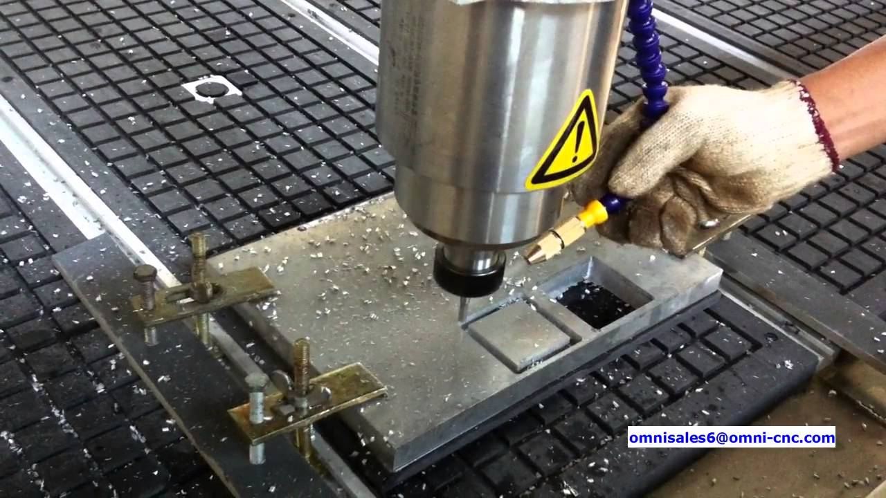 Omni Water Cooling Spindle Cnc Router Cutting Aluminum