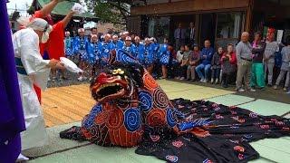 【祭り】 和歌山縣田邊市芳養松原の獅子舞