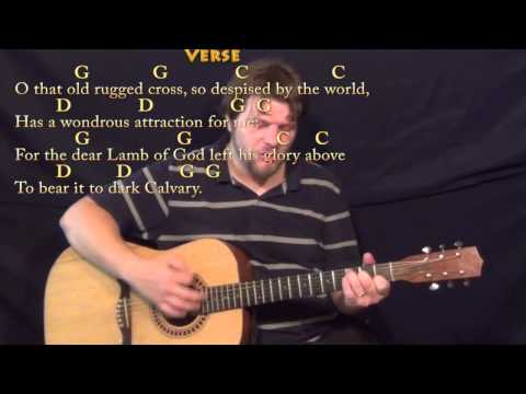 The Old Rugged Cross (Hymn) Strum Guitar Cover Lesson in G with Chords/Lyrics