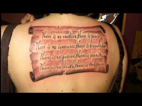 Tatuajes De Pergaminos Youtube