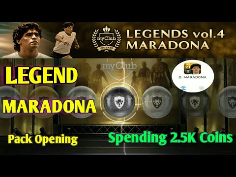 LEGENDS vol.4 MARADONA Pack Opening PES 2018 MOBILE (Spending 2.5K Coins)| Crazy for MARADONA