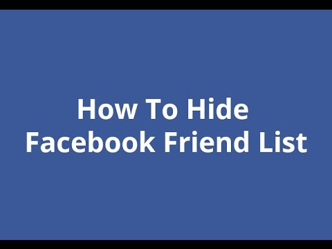 How to Hide Mutual Friends list on Facebook | Best Guide ...