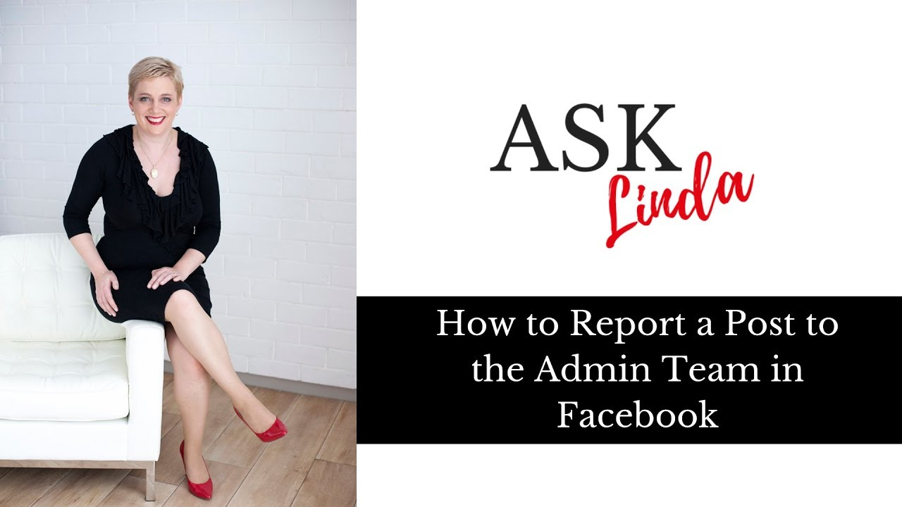 Facebook Group Tip: How to Report a post to a group admin