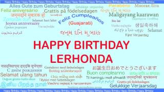 LeRhonda   Languages Idiomas - Happy Birthday