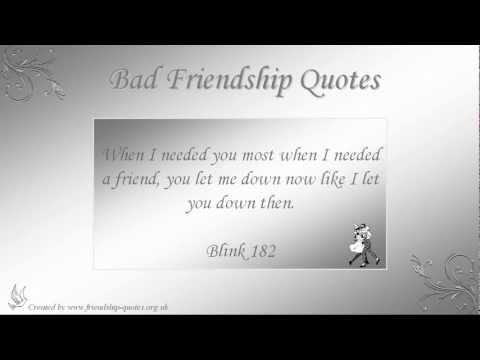 Bad Friendship Quotes