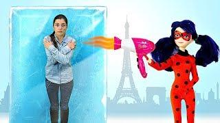 Куклы Леди Баг в ToyClub - Квин Би на лыжах! Видео для девочек