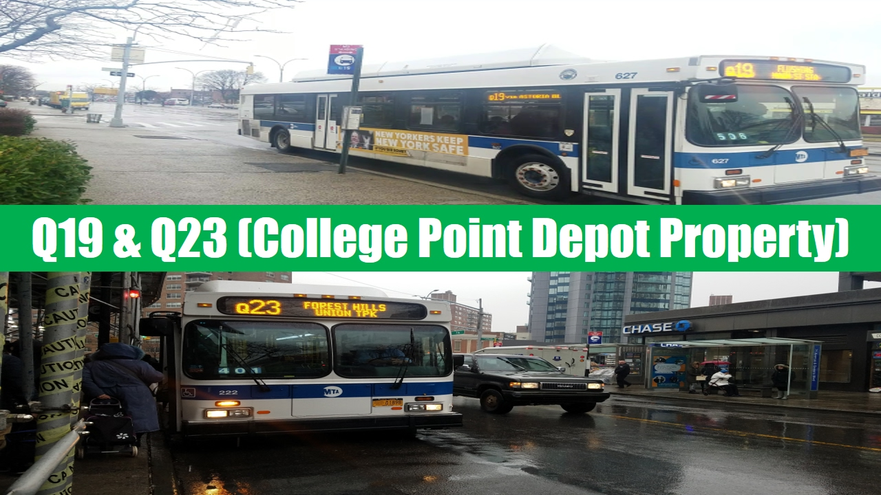 mta bus: 2012-2013 new flyer c40lf cng on the q19 & q23 bus routes
