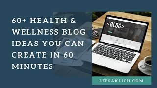60+ health & wellness blog ideas you ...
