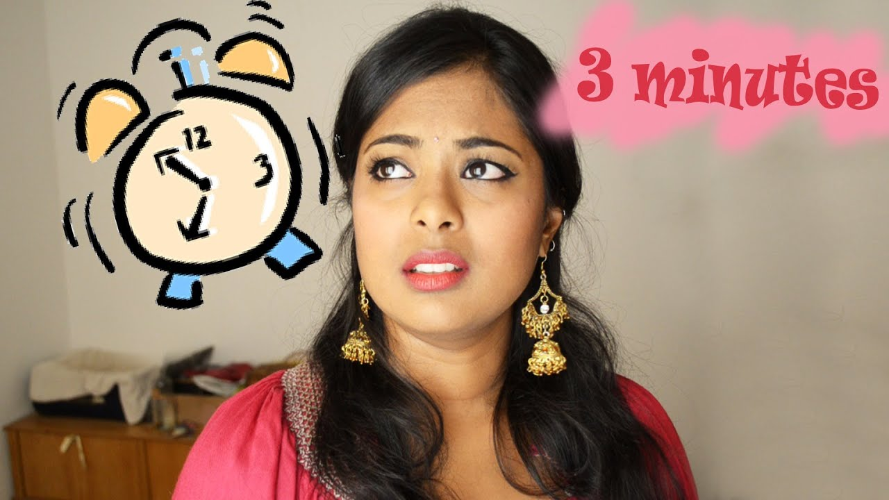 3 minute makeup challenge onam makeup malayalee makeup
