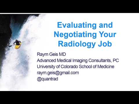 Evaluating and Negotiating Your Radiology Job: Private Practice
