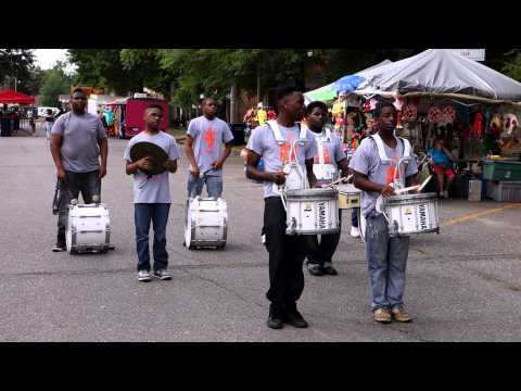 2015 Community Fest - Dermott High School Band Drumline