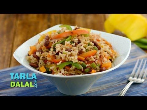 Mexican Rice (Diabetic and Zero Oil Recipe) by Tarla Dalal