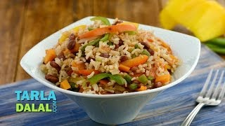 Mexican Rice (Diabetic and Zero Oil Recipe) by Tarla Dalal