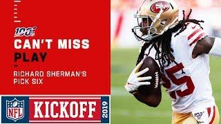 Richard Sherman Responds with a 49ers Pick 6! thumbnail