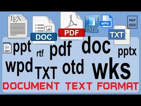 Understanding Document File , Standard , Extension , File , Format