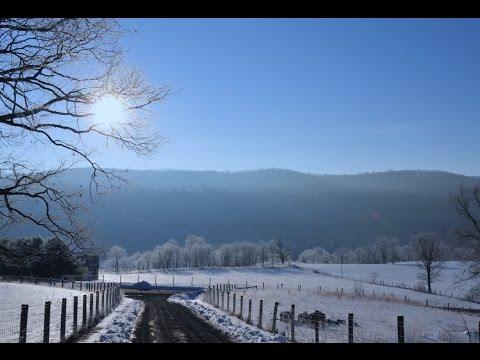 Farming in the Snowy Appalachian Mountains