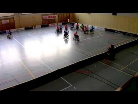 Rollstuhl Unihockey, Team Suisse, Demospiel Egg 1. Halbzeit