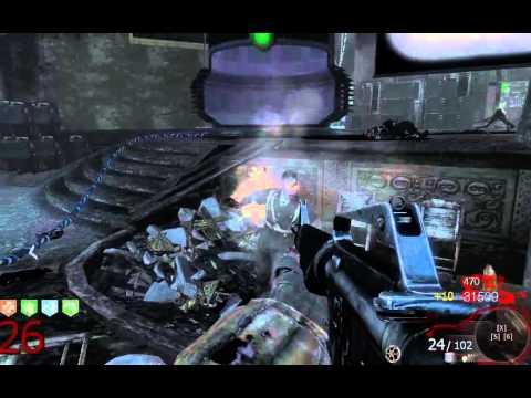 Играем в Call Of Duty: Black Ops, зомби режим. Ещё один забег в театре смерти.