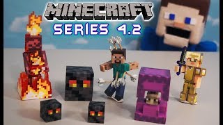 Minecraft Action Figures Series 4.2 Jazwares Toys NEW Unboxing Overworld Survival Mode Biome Playset