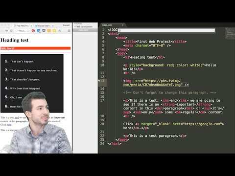 آموزش طراحی وب - قسمت اول - Web Development Course - Part 1 - HTML
