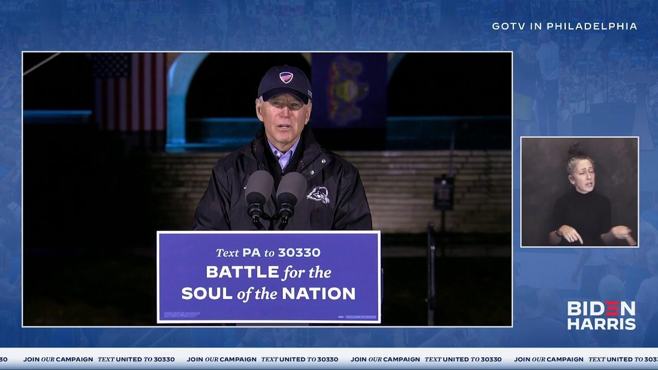 Vice President Joe Biden Speech LIVE at Philadelphia, Pennsylvania Get Out the Vote Event