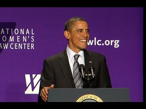 President Obama Speaks at the National Women's Law Center An