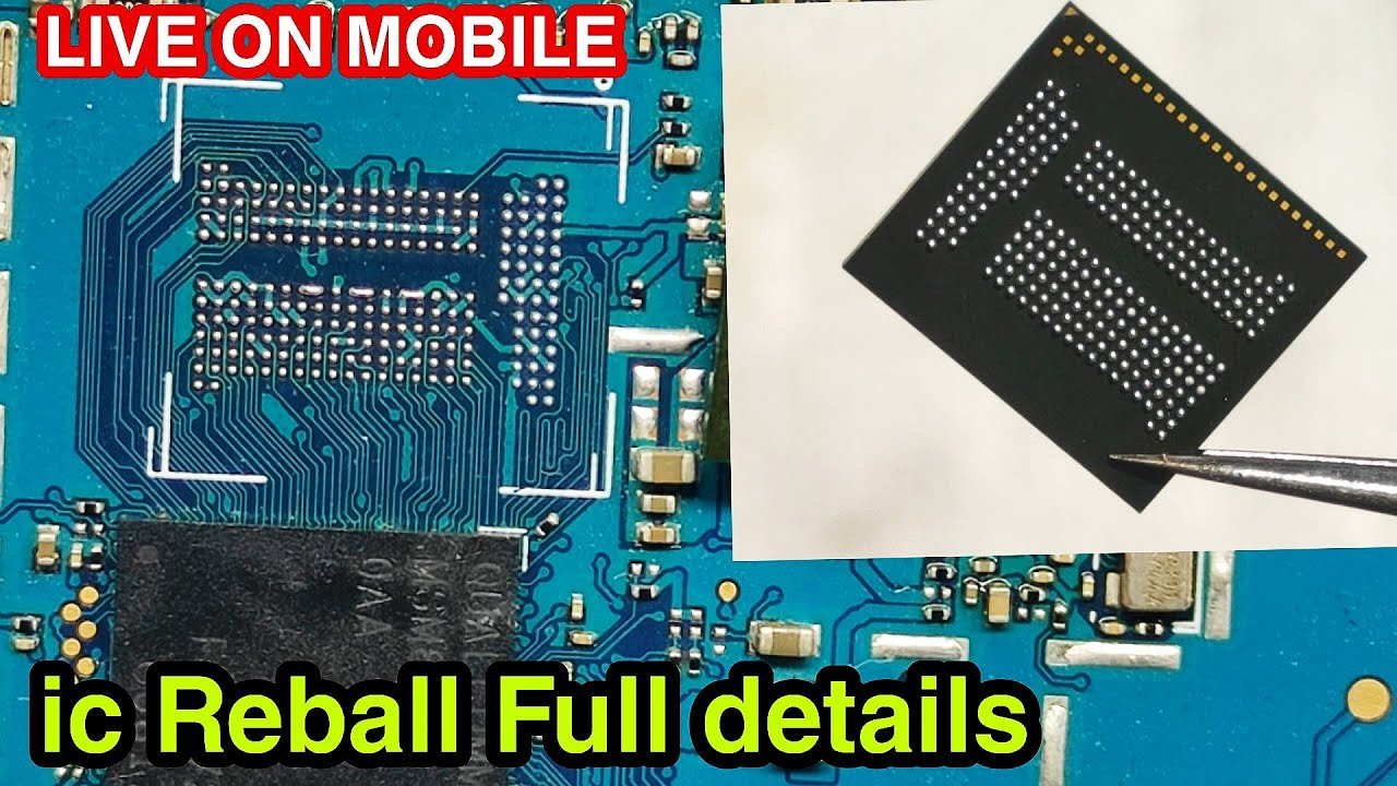 ic reball and properly soldering   ic reball kaise kare   Live On mobile