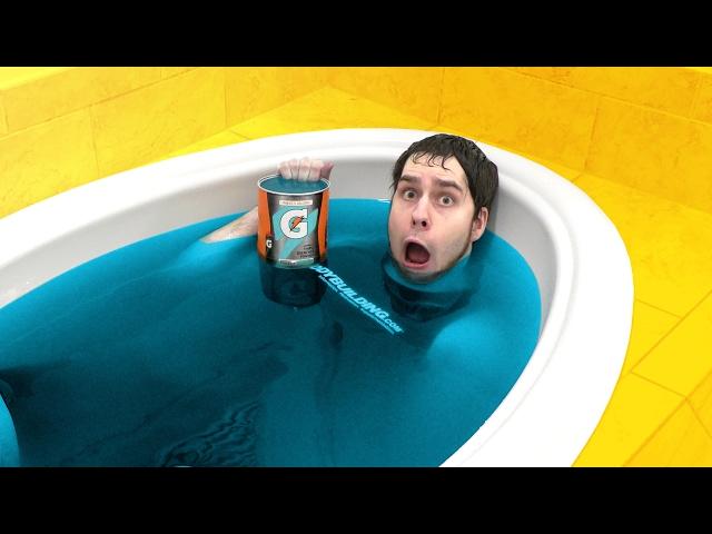 BLUE GATORADE BATH CHALLENGE!!!