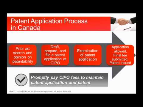 English - Patent Application Process in Canada